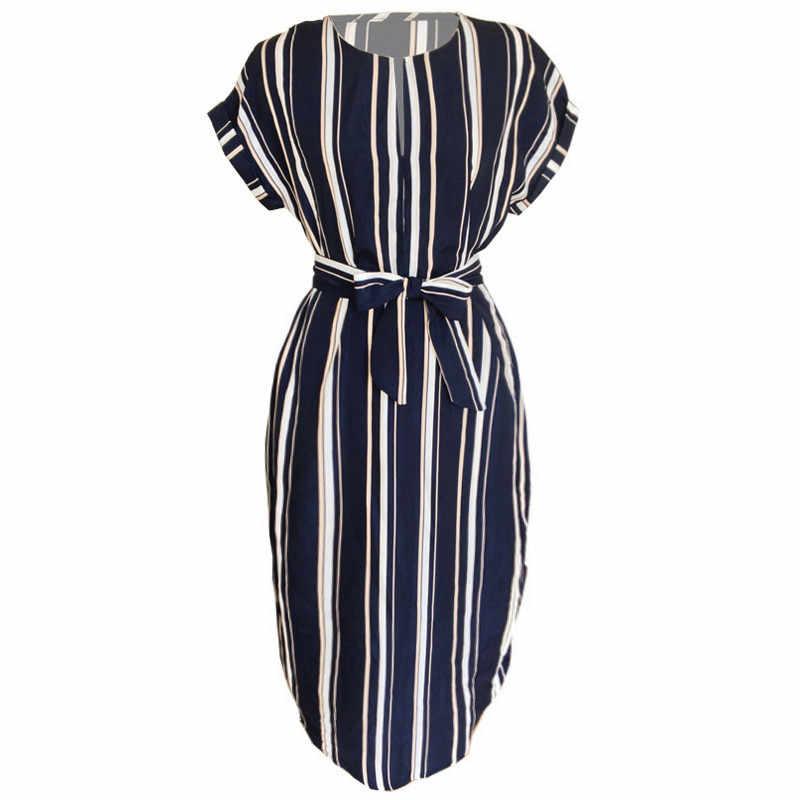 Летние платья женские 2019 геометрический принт Туника Длинные платья v-образный вырез короткий рукав Миди сарафан женские элегантные винтажные платья
