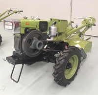 15 HP Walking Tractor Farm Tractor With Battery Box Chinese Famous Brand With Rotary Cultivator