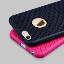 New! For iPhone6 6S 6/6S Plus 5 5S SE Case Ultra Thin Super Cute Candy Breathable Grid Back Cover Phone Bag For iPhone6 Case