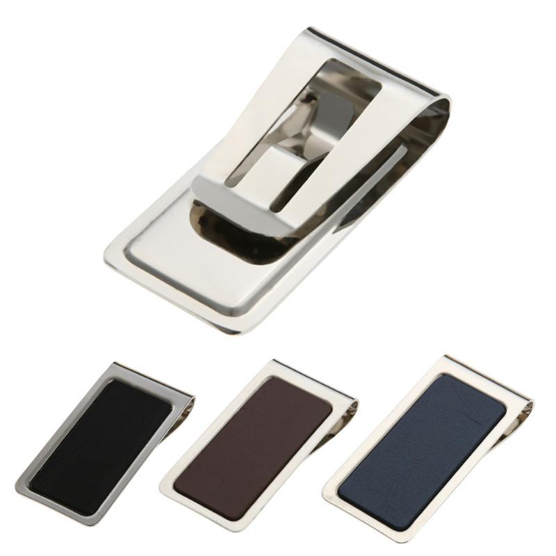 New Money Clip Metal Stainless Steel Men Money Clip Wallet Card Folder Holder Hollow Design Card ID Case Wallets For Men Brands