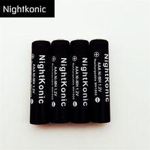 цена на Original ( Battery Number : 10 ) NightKonic 1.2V MH AAA Battery NI-MH  Rechargeable Battery  BLACK