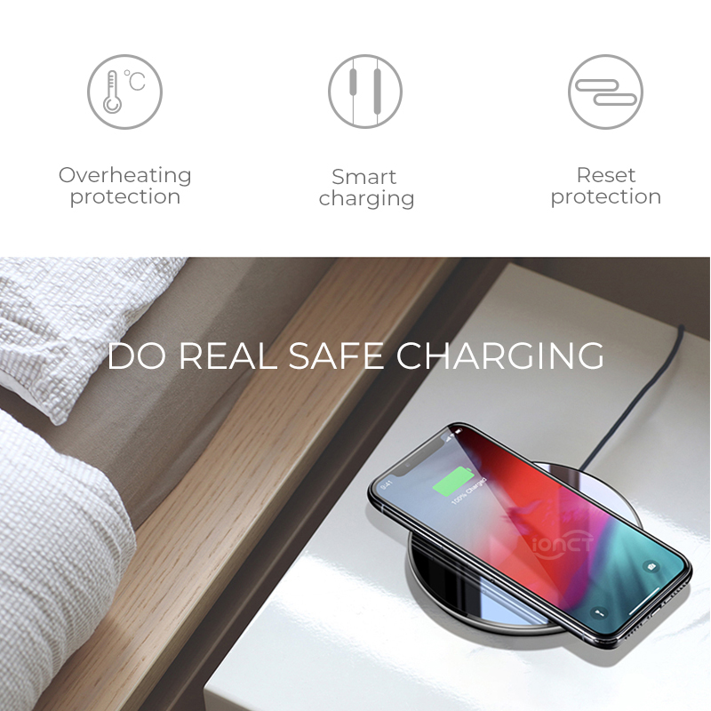 Image 3 - iONCT qi Wireless Charger for iPhone X XR XS Max 8 USB wirless Charging for Samsung Xiaomi Huawei phone Qi charger wireless pad-in Mobile Phone Chargers from Cellphones & Telecommunications