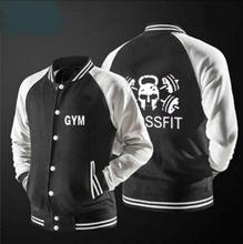 3D Comic Crossfit baseball jacket print Outerwear Fitness Sporting short Jackets, man Spring Runs motion Soft breathable Jackets