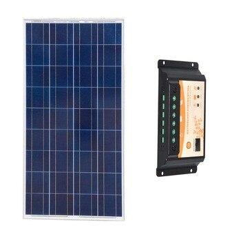 Kit Panneau Solaire 12v 150w Solar Battery Charger Solar Controller 12v/24v 10ACaravan  Chargeur Solaire Pour Telephone Portable