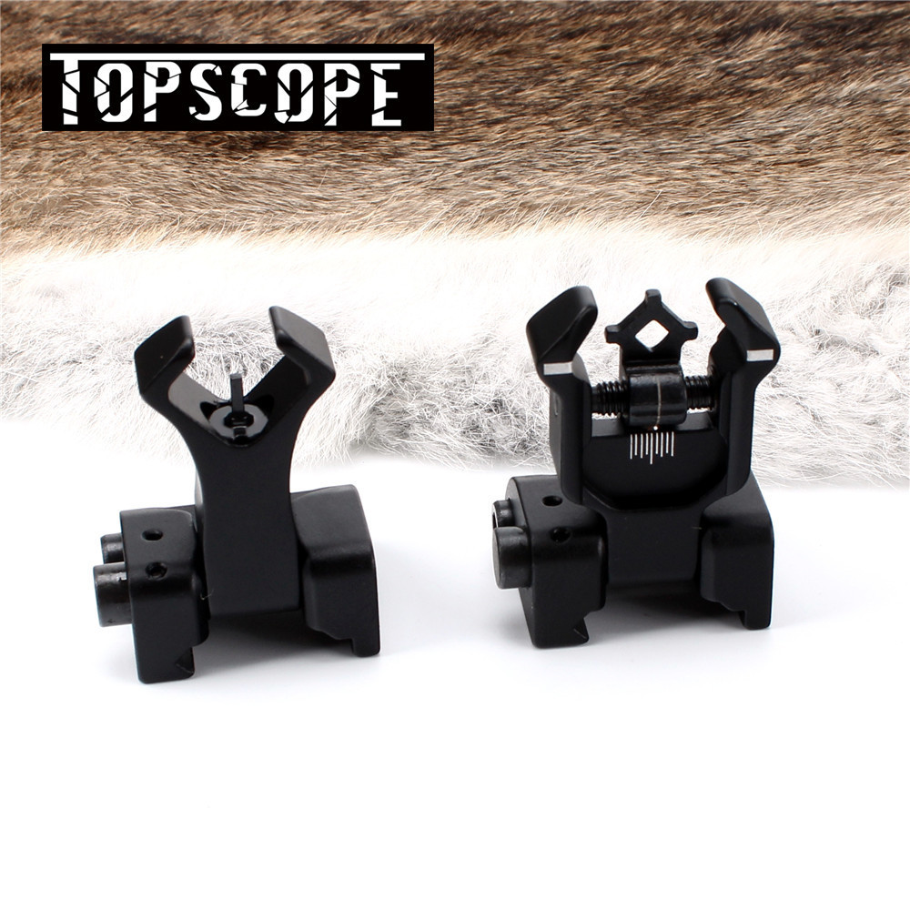 Model 4 AR 15 Tactical Flip Up Front Rear Sight Sights Set Iron Diamond Apertures Dual Windage Adjustment