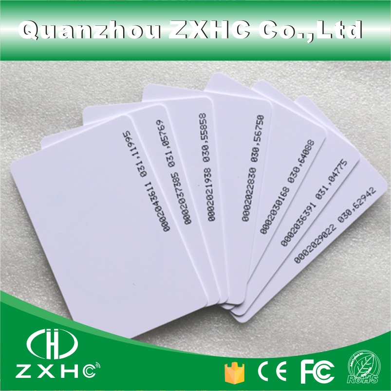 (100pcs/lot) Smart Card RFID Tag 125 KHZ TK4100 (compatible EM4100) ID Access Control Cards ISO 14443