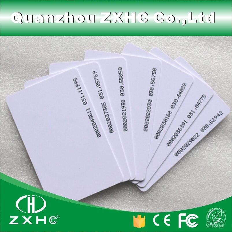 ISO karta tk4100 s číslováním - (100pcs/lot) Smart Card RFID Tag 125 KHZ TK4100 (compatible EM4100) ID Access Control Cards ISO 14443