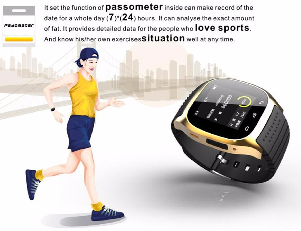 SHAOLIN Bluetooth Smart Watch Phone Wearable Devices SmartWatch For Apple Android IOS Mobile Phone PK GT08 DZ09 U8 A9 IWO -6