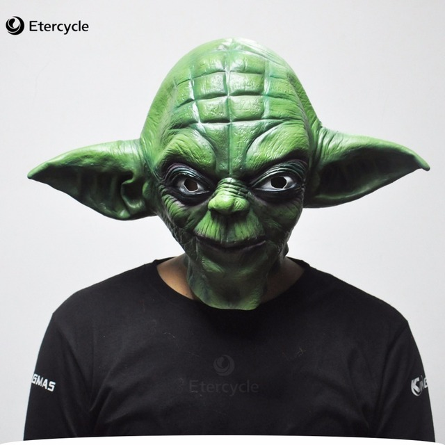 Green Yoda Star Wars Movie Cosplay Latex Mask