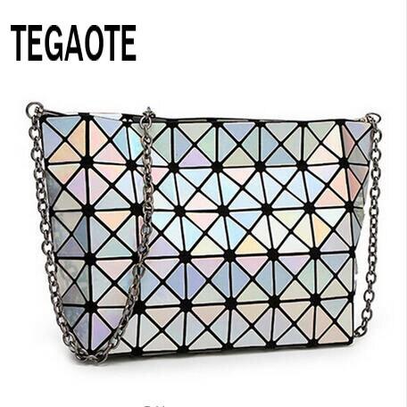 Famous Bao Bao bag Diamond Lattice Fold Over Bags Women Handbags Chain Shoulder