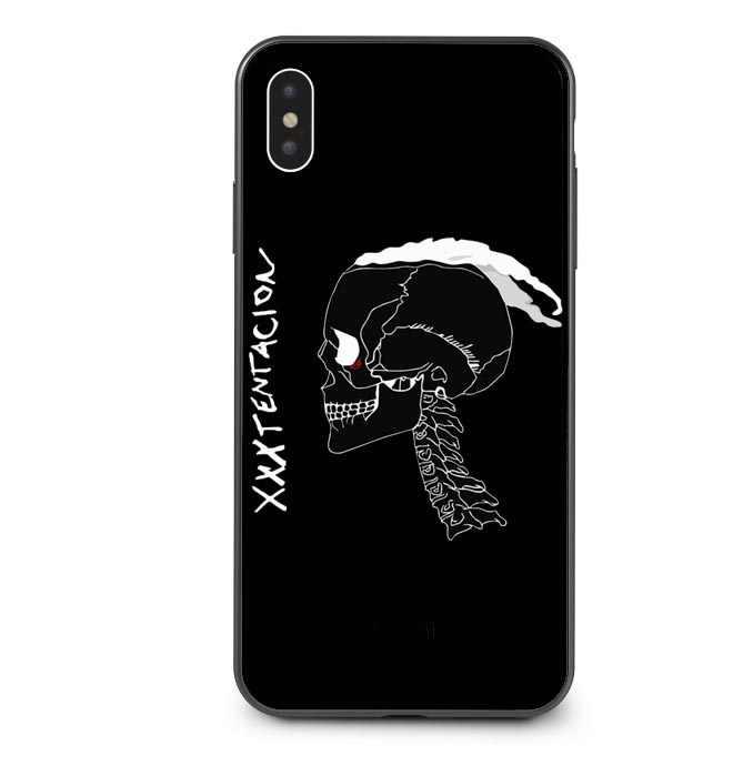 Xxxtentacion Bad vibes forever lil peep 블랙 실리콘 전화 케이스 커버 For iPhone 5 5S SE 6 6S Plus 7 7Plus 8 Plus X XR XS MAX