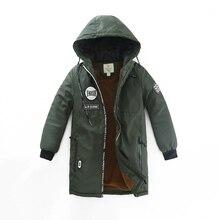 Winter 2016 more new children's clothing boy with velvet jackets cuhk children's temperament of mountaineering long sleeve coat