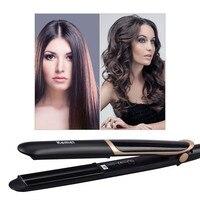 LED Display 2 In 1 Ceramic Hair Straightener Comb Hair Curler Roller Electric Detangling Hair Straightening