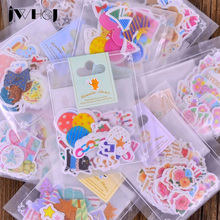 34pcs/bag Kawaii Hand-painted watercolor stickers decoration DIY scrapbooking sticker children favorite stationery Free shipping