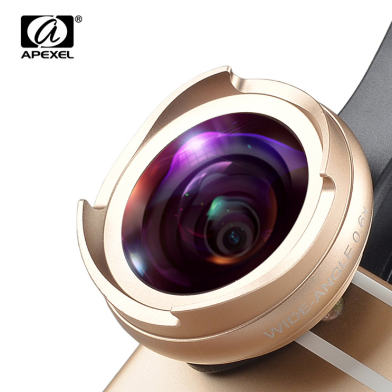 APEXEL wide angle macro lens 2 in 1 camera phone lens kit for iPhone 5s 6s
