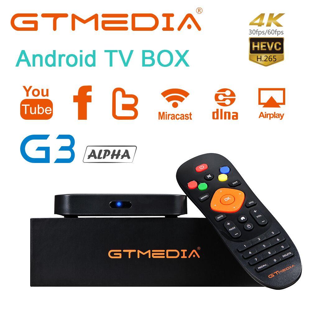 IPTV Original GTMEDIA G3 Alpha TV BOX Smart 4 K Ultra BT4.0 Android 7.1 2G/16G WIFI Google Cast Netflix DRM Widevine L1 TV Box