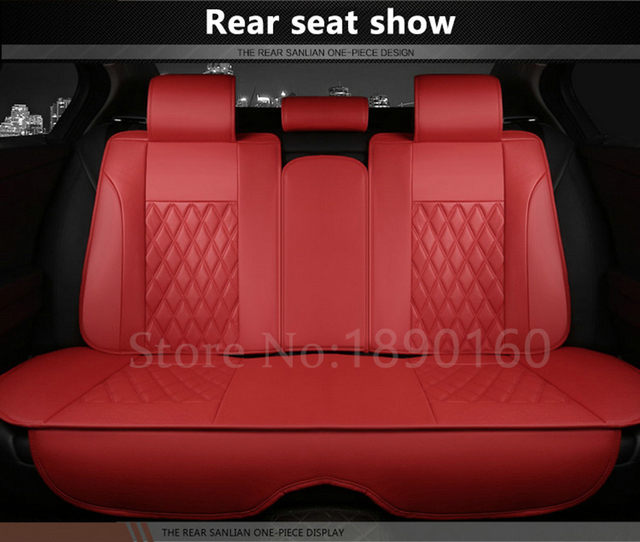 only car rear seat covers For MG Suzuki Leon Lexus Infiniti Porsche Geely Audi ZOTYE Isuzu etc. all car model accessorie Leather