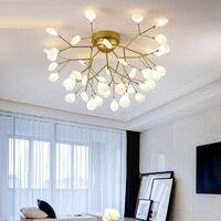 Modern gold /black LED Ceiling Chandelier Lighting Living Room Bedroom Chandeliers Creative Home Lighting Fixtures AC110V/220V