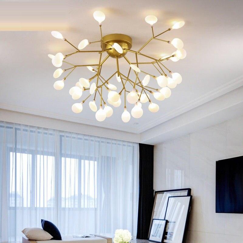 moderno ouro preto led teto iluminacao lustre quarto sala de estar lustres de casa criativa luminarias