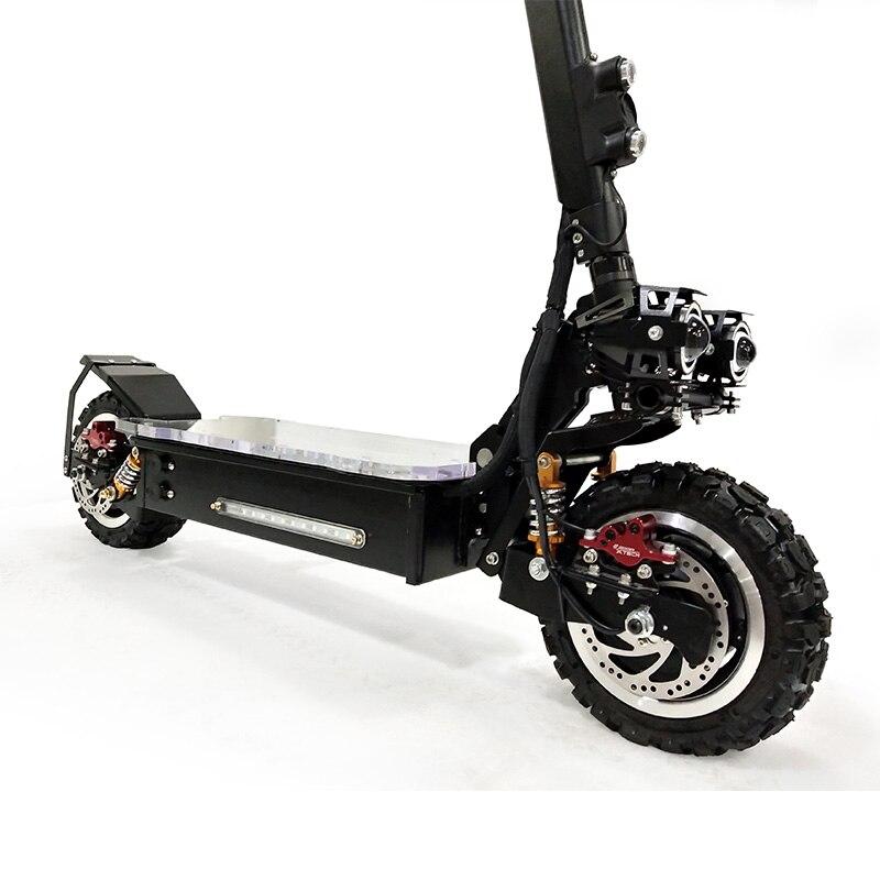 Scooter électrique puissant de 3200 W outre du Scooter électrique adulte de Longboard de planche à roulettes de route Scooter professionnel pliable électrique - 2