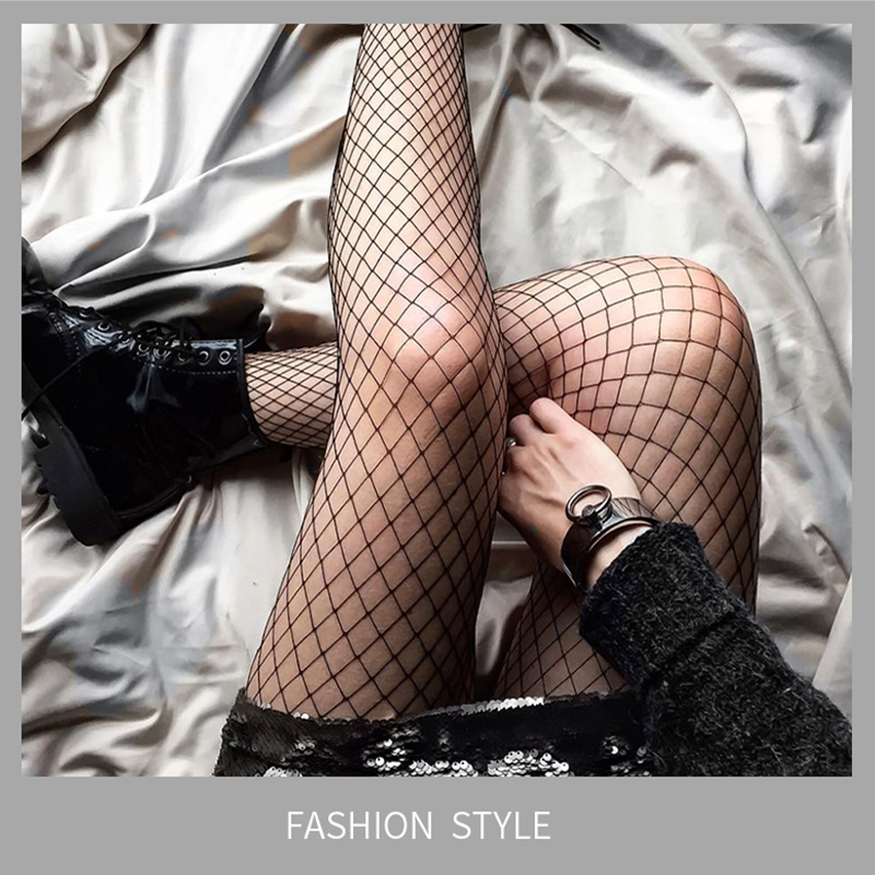 Women Sexy Hollow Out Fishnet Stockings Fish Net Fashion Pantyhose Mesh Black Stocking Lingerie High Quality Bottoming Stocking