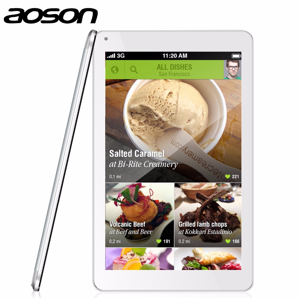 HD 10.1 Inch Android 4.4 Tablet PC MTK8127 Quad Core 1280*800 Aoson M106NB Tablet 1GB+8GB Tablets IPS Bluetooth Wifi 6000mAh 10