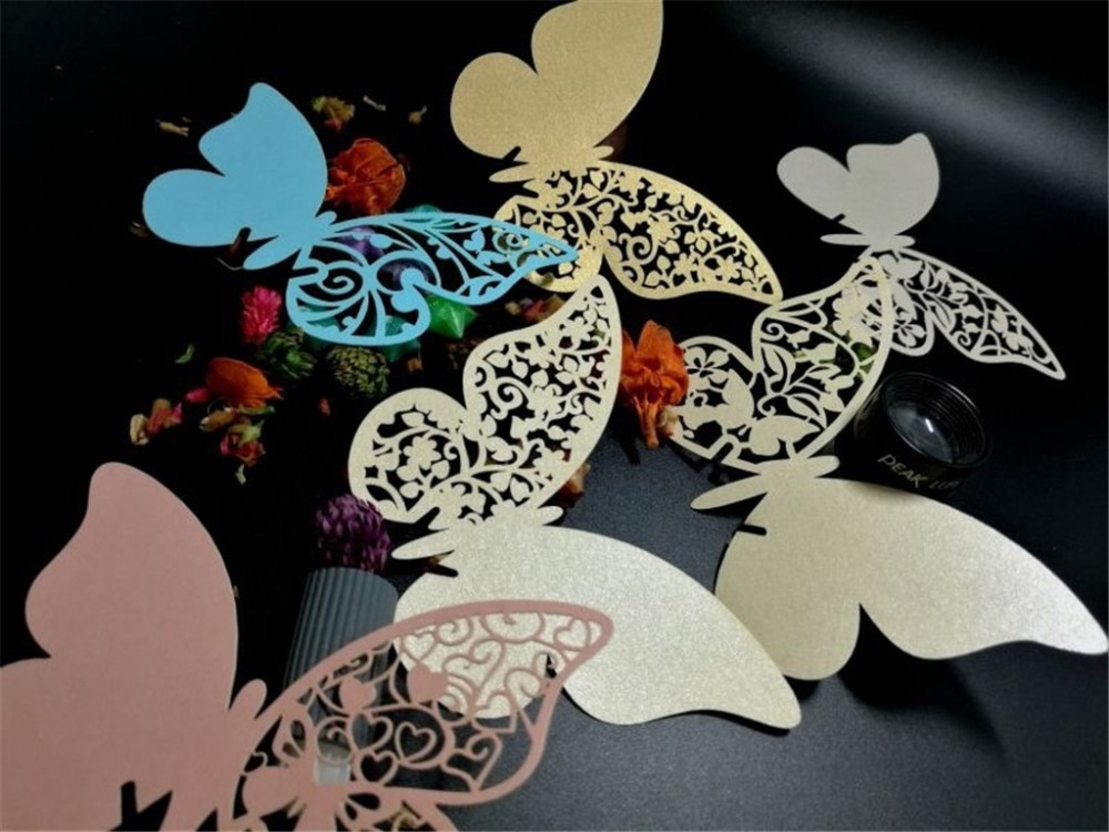 cards for glass deco wedding
