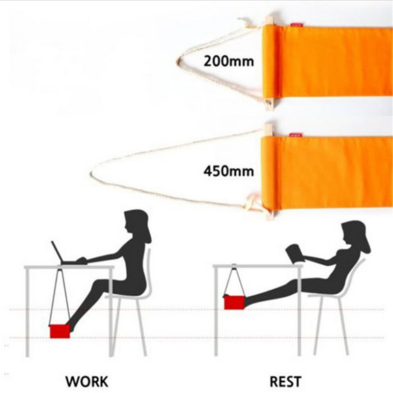 New 2016 Hot Portable Mini Foot Rest Stand Desk Feet Hammock Fuut Confortable Office Orange Gi872426 In Hammocks From Furniture On