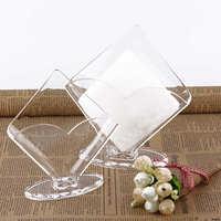 Acrylic Clear Tissue Box Transparent plastic tissue box vertical display napkin paper box fashion paper towel holder