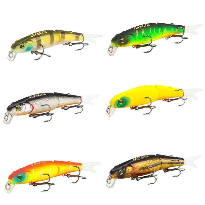 1pc 8.8cm 8g Fishing Lure Baits Hard Laser Minnow Two Segements 3D Eyes Soft Tail Bionic Artifical Swimbait Fish Tackle Pesca