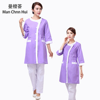 Medical Robe women nurse Uniform medical beauty gown overalls scrubs uniforms dental clothing