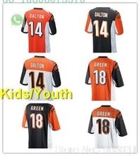 28d7e848c Free shipping A+++ quality Kids youth Andy Dalton 14 A.J. Green  18 jersey  Cincinnati