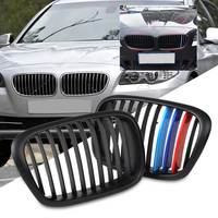 2pcs New Front Gloss Wide Kidney Grille Grill 3 Pieces Colored Adhesive Tape Set For BMW