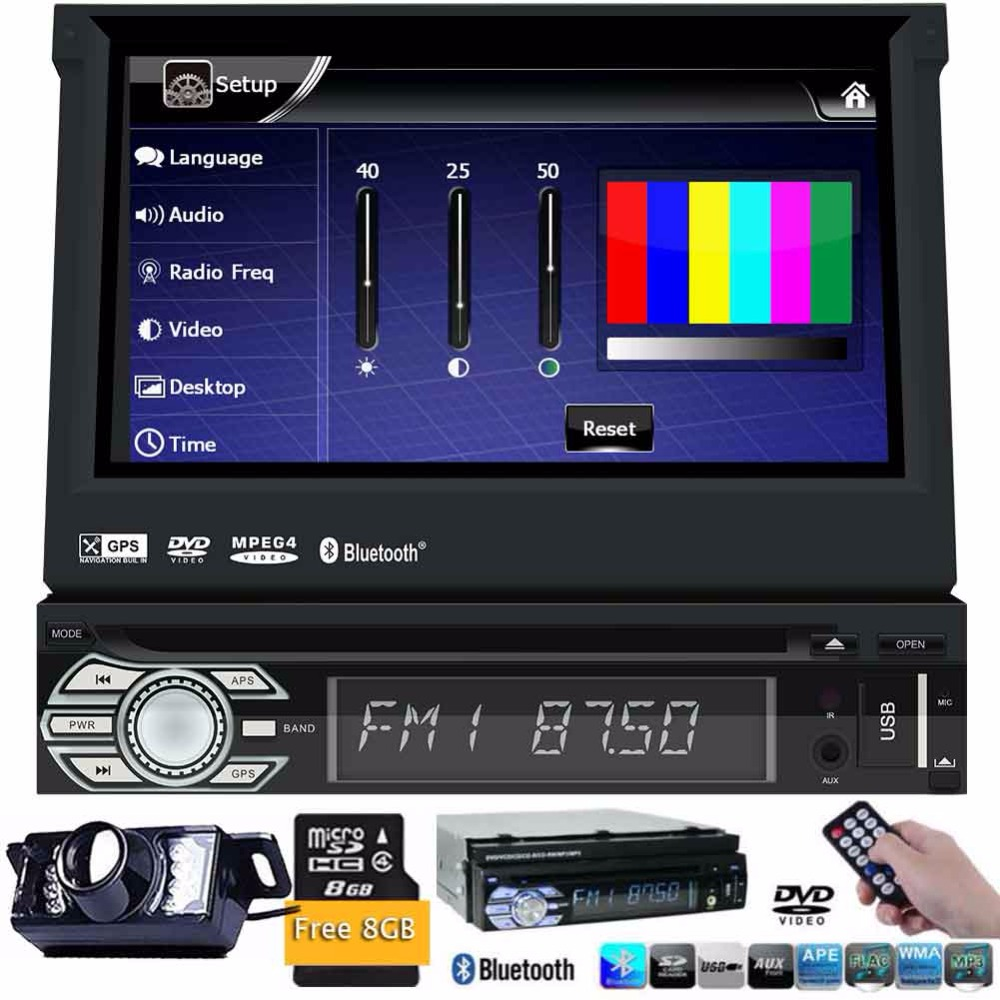 Touch Screen Car Stereo Radio In Dash Single Din GPS Navigation DVD CD Player with Backup Camera Support Bluetooth/USB/SD/AM FM 6 2 inch universal double din car gps navigation in dash gps car dvd player fm am usb sd bluetooth radio navigation car stereo