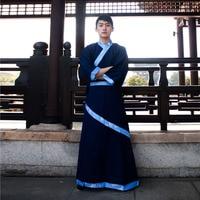 Men Robe Dance Folk Costume Male Chinese Ancient Costume Men Hanfu Chinese Traditional Costume Qing Dynast