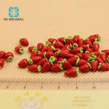 Dollhouse Accessories Miniature Clay Fruits Dolls Kitchen Decoration Emulation Fruit Ten Pcs In One Bag(China)