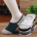 (10 pares = 1 lote) amantes zapatillas boca baja calcetines colorido serie sigilo diseño parejas calcetines del gel de silicona antideslizante calcetines de los hombres
