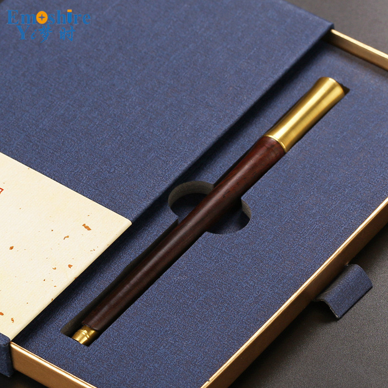 Mahogany Stationery High-end Business Gifts Wood Pencils Office Creative Ball Pen Wooden Ballpoint Pen Cases Custom P360 zx 0318 creative heart shaped pencils eraser footprint style ball point pen set