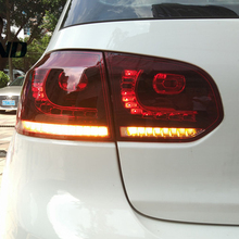 Car Styling MK6 Tail Lamp For Golf 6 taillight 2010 2011 2012 2013 2015 2016 for R20 LED Light with moving turn signal