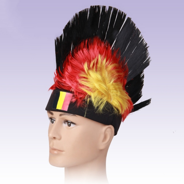 35f9b688619 Soccer Football Fans Headwear Cheerleading Team Props Caps Hats National  Flag Wig 2018