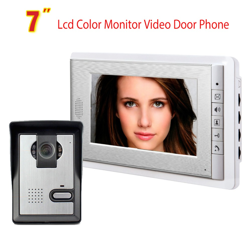 7 Inch Monitor Video Door Phone Intercom System Doorbell Camera visual intercom doorbell Video Intercom doorphone for villa
