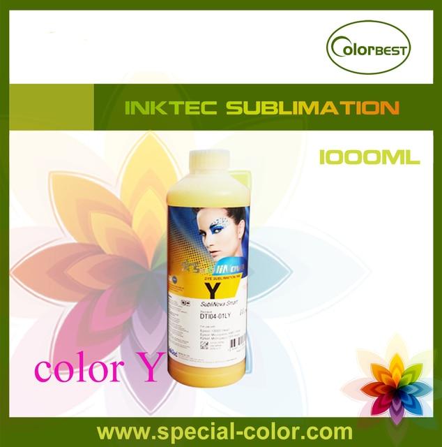Для Epson DX4/DX5 сублимации чернила inktec переноса краски 1000 мл Y