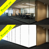 PDLC Smart Fillm Switchable Glass Film Custom any Size and Shape power on transparent power off opaque A4 sample