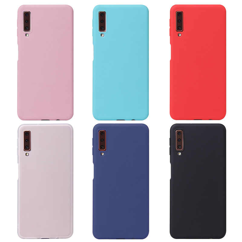 Candy Color Case for Samsung Galaxy S10 S8 S9 Plus S10e A6 A7 A9 A8 Plus 2018 M20 M10 A8S A6S J2 J5 J7 Prime Silicon Case Cover