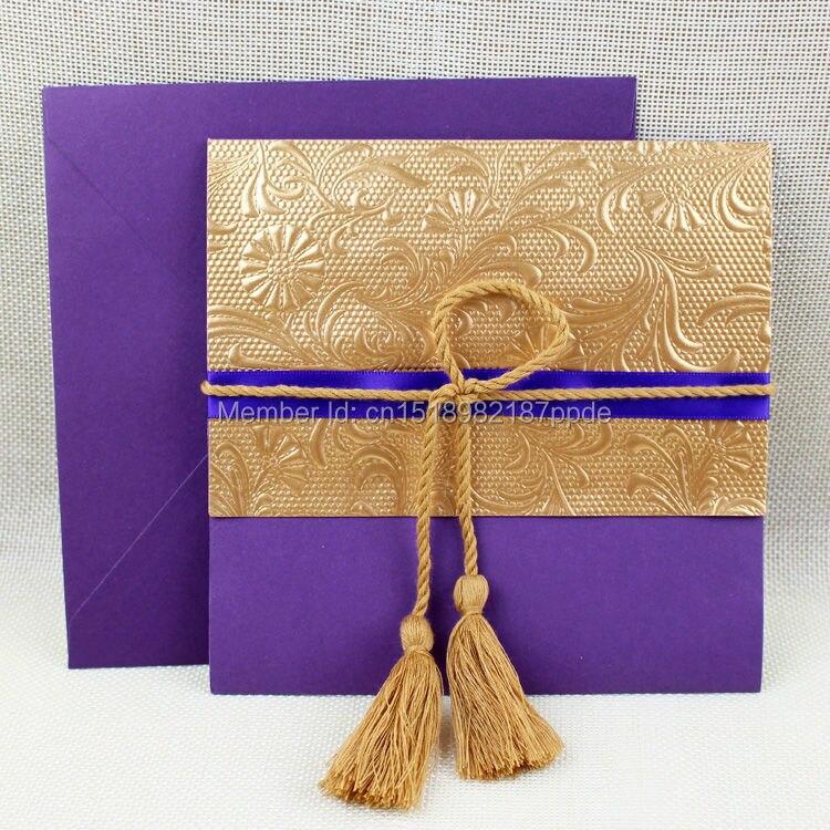 best 25 orange wedding invitations ideas only on fall - Purple And Gold Wedding Invitations