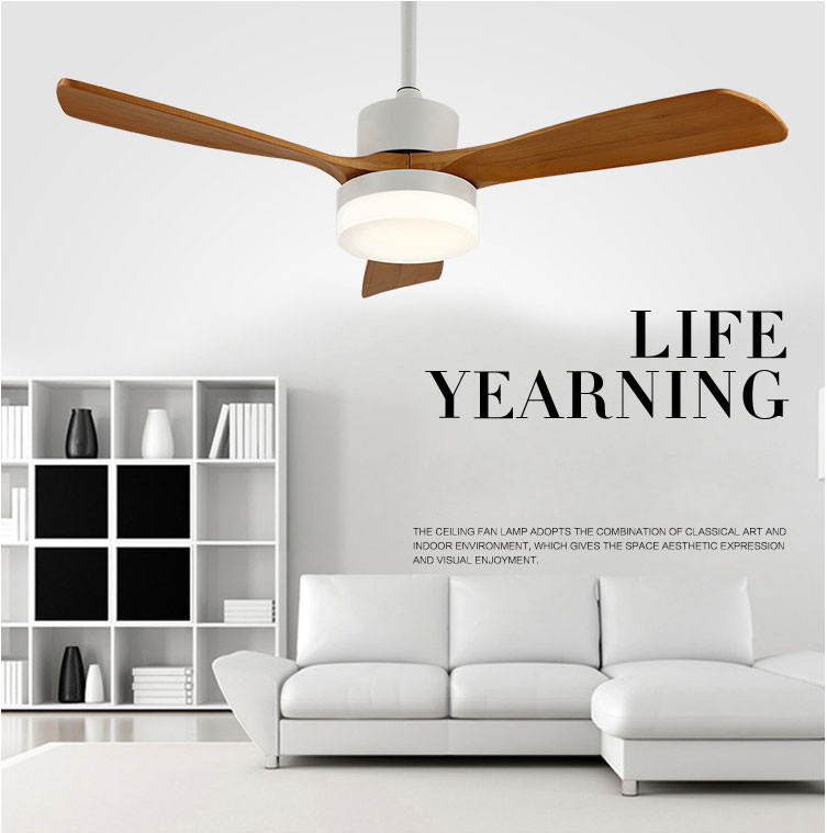 Lights & Lighting Lovely Colorful Country Wooden Leaf Iron Led Ceiling Fan With Remote Control For Bedroom Childrens Room Dining Room 2203 Ceiling Fans