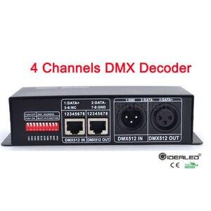 Image 2 - DMX Decoder RGBW LED 4 channels  32A led dimmer driver for RGB,led dmx decoder dmx512 controller DC12 24V DMX512 Dimmer