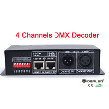 Free shipping rgbw DMX512 decoder 4 channels led driver 32A RGBW led strip DC12-24V Dimmer