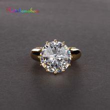 Rainmamabom anillo de compromiso Vintage de Plata de Ley 925 con gemas de moissanita, joyería para parejas, tamaño 5 a 12