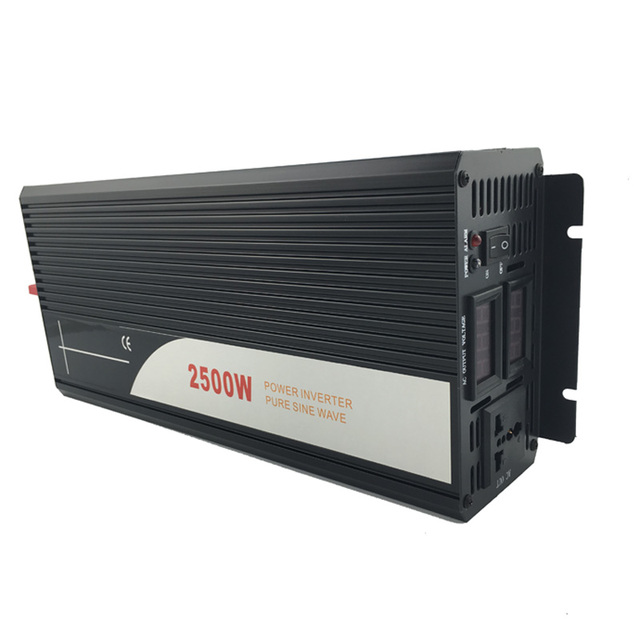 2500W pure sine wave solar power inverter DC 12V 24V 48V  to AC 110V 220V digital display 4